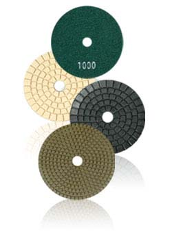 polishing pads with granite and marble