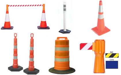 Reflective Traffic Cones and Barrels